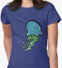 bored jellyfish Womens Fitted T-Shirt