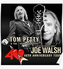 Tom Petty with Special Guest 40th Anniversary Tour 2017 ADR01 Poster
