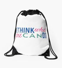 Rethink what you can do 2 Drawstring Bag