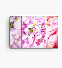 Lilac Bouquet Quadtych One Canvas Print