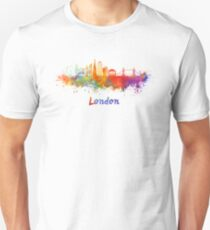 London V2 skyline in watercolor T-Shirt