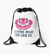 Rethink What You Can Do - Tiger Drawstring Bag