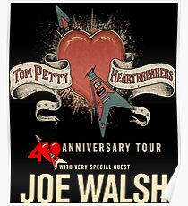 Tom Petty with Special Guest 40th Anniversary Tour 2017 ADR05 Poster