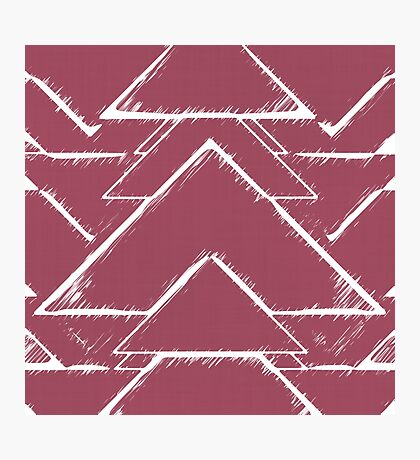 Abstract Triangles Pink Photographic Print