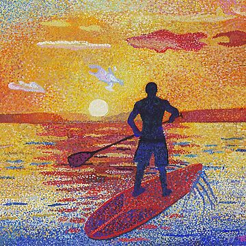 Stand up & Paddle Sunset by tobycentreart