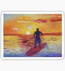 Stand up & Paddle Sunset Sticker