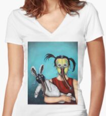 Playtime 2050 Women's Fitted V-Neck T-Shirt
