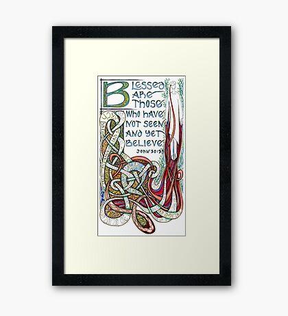 Blessed Are Framed Print