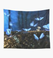 Blue Butterflies (Holly Blue) Wall Tapestry