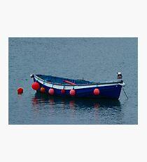 Little Blue Boat Photographic Print