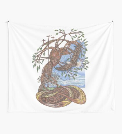 Faith, Hope and Eternal Love Wall Tapestry