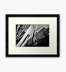Glass Business Window Building Abstract London Framed Print
