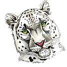 """Snow Leopard"" by Winterberry  Farm Studio"