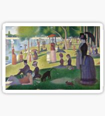 a sunday afternoon on the island of la grande jatte Sticker