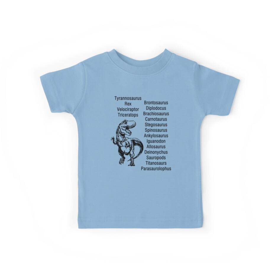Dinosaur Names Kids Dinosaur Shirt Paleontologist Gifts by hustlagirl