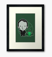 HP Lovecraft and Friend Framed Print