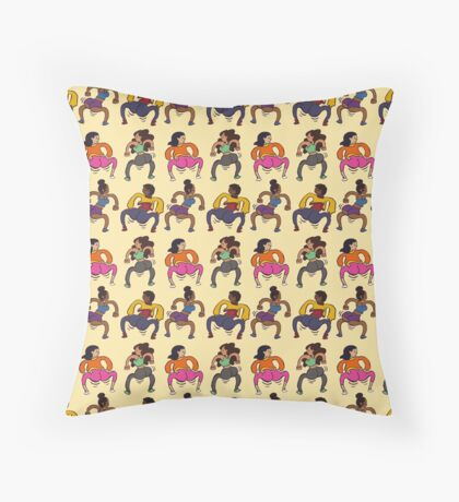Booty Butt Cheeks Throw Pillow
