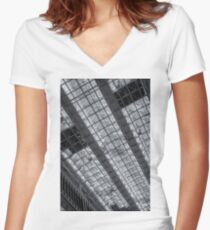 Glass Ceiling County Hall Chelmsford Women's Fitted V-Neck T-Shirt