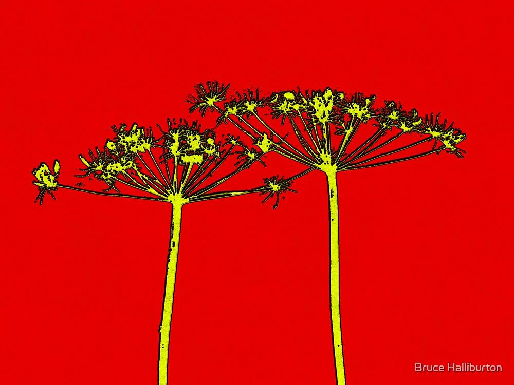 Red Botanical by Bruce Halliburton