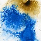 Brown and blue abstract by Simon Rudd