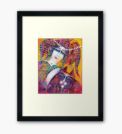 KATY AND THE CAT Framed Print