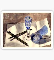 Blue vintage glass Sticker