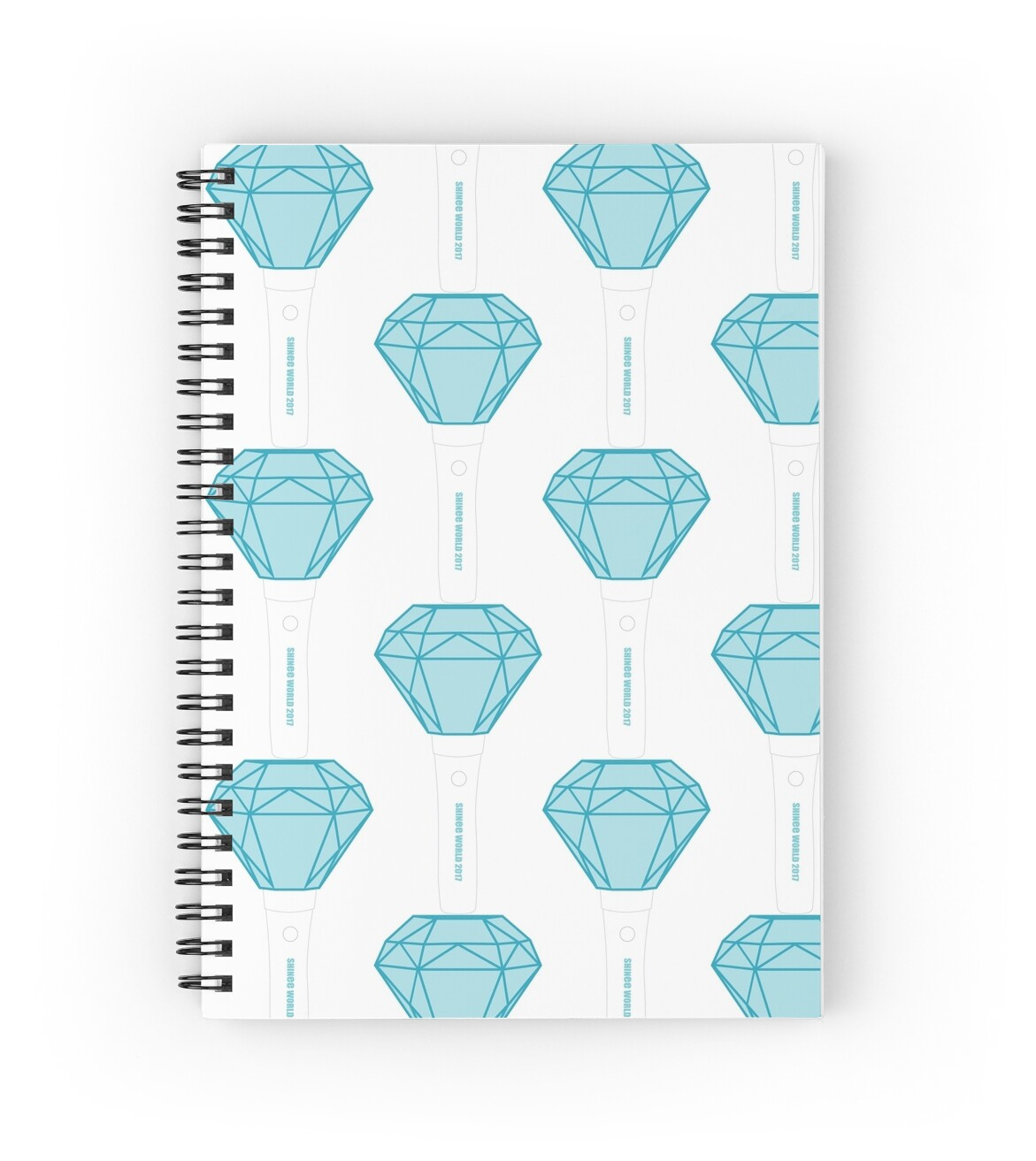 "SHINee Lightstick Ver. 2"" Spiral Notebooks by ThaliMarie 