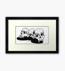 Trio of Death Framed Print