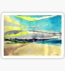 Sand beach Sticker