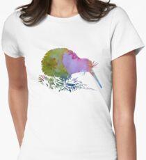 Kiwi Bird Womens Fitted T-Shirt