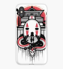 Spirited Haku and Chihiro iPhone Case