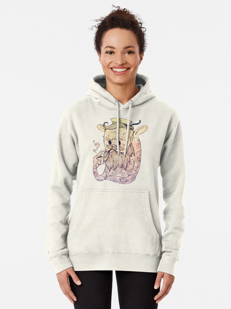 Alternate view of Hello Sailor!! Pullover Hoodie
