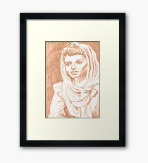 Women in Headscarf- Sepia Framed Print