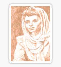 Women in Headscarf- Sepia Sticker