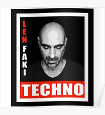 obey techno Poster