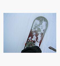 SNOWBOARDING Photographic Print