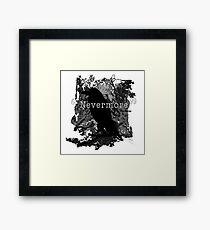 Quote The Raven Framed Print