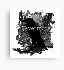 Quote The Raven Canvas Print