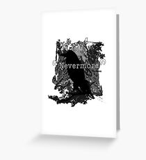 Quote The Raven Greeting Card