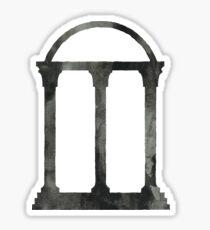 black watercolor arch Sticker