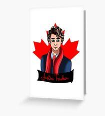 Fanart Justin Trudeau Greeting Card