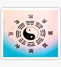 Yin Yang Blue Style Sticker