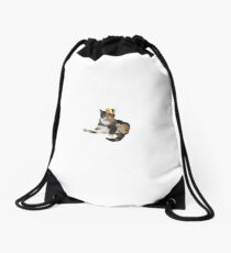 Queen Cat Drawstring Bag