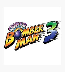 SUPER BOMBERMAN 3 LOGO Photographic Print