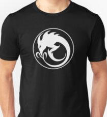 Sliver Ouroboros Symbol -White- Unisex T-Shirt