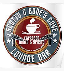 Scotty and Bone's Cove Lounge Bar Poster
