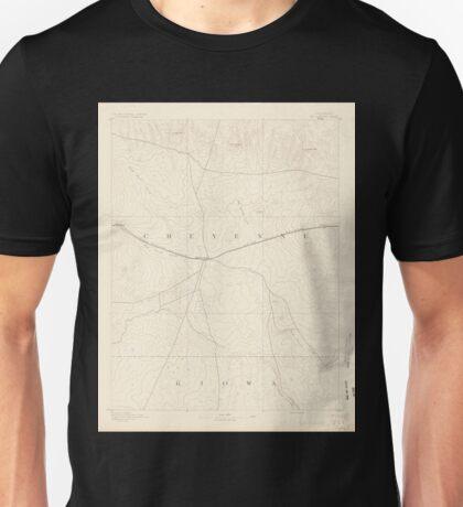 USGS TOPO Map Colorado CO Kit Carson 402516 1891 125000 Unisex T-Shirt