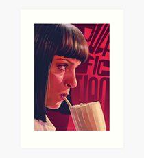 Mia Wallace Milkshake Art Print