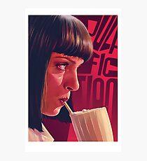 Mia Wallace Milkshake Photographic Print