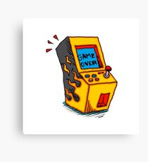 Vintage Arcade game Machine Canvas Print